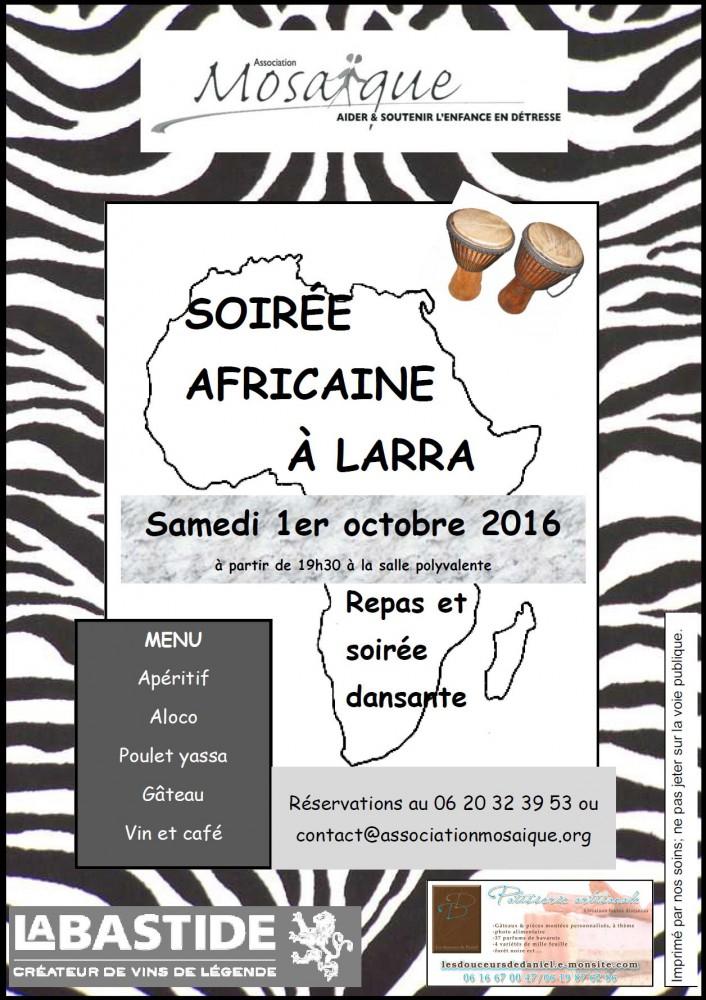 Affiche soirée africaine